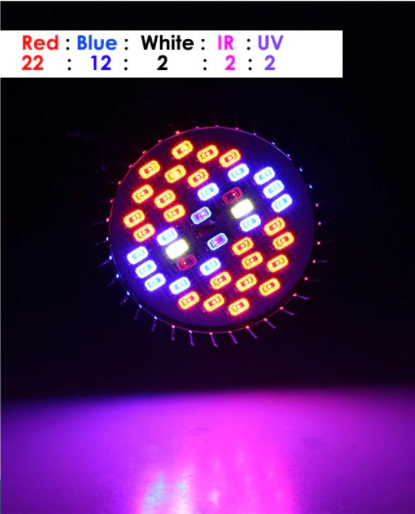 LED groeilamp 30 watt aan