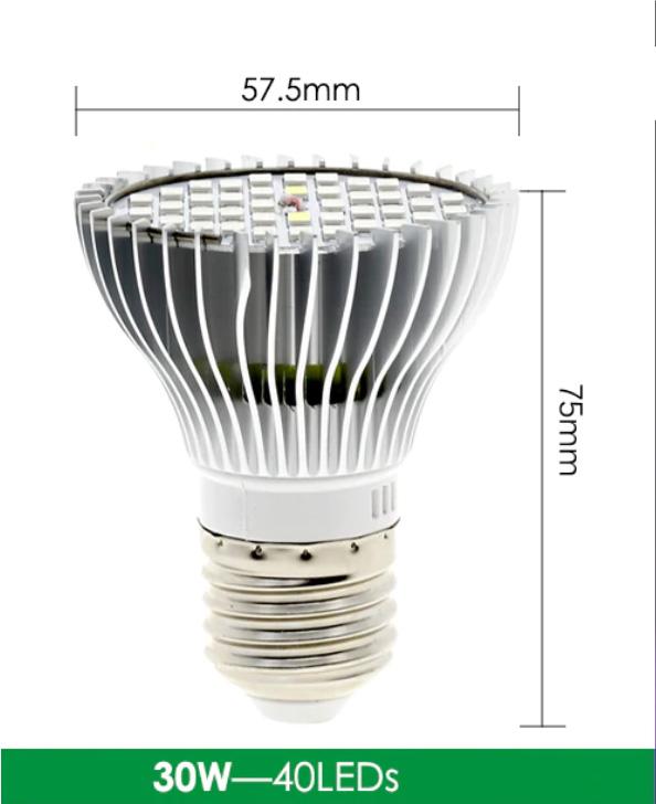 LED groeilamp 30 watt formaat